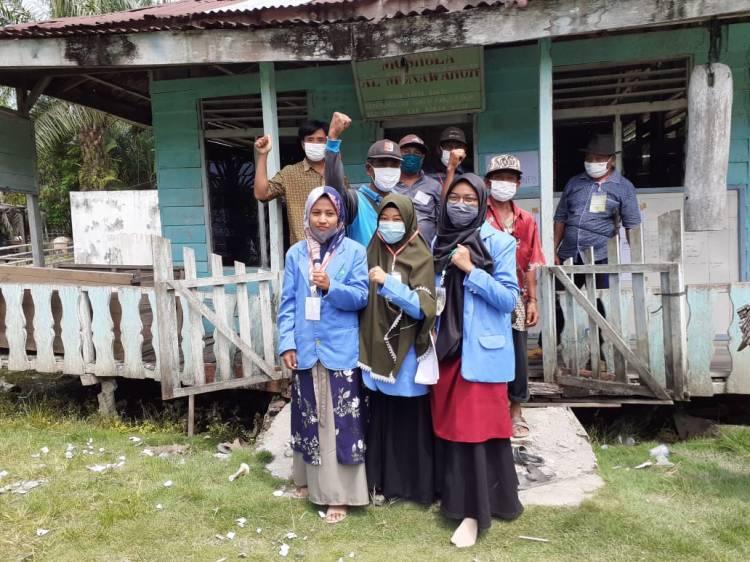 Masyarakat Desa Sungai Panji-Panji  Kabupaten Rokan Hilir Merasa Senang Dengan Adanya Mahasiswa KKN UIN Suska Riau di Desanya