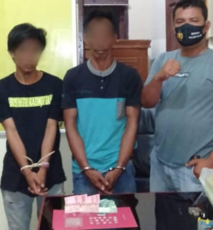 Dua Orang Buruh Tani Digelandang Tim Ops Polsek Pujud Terkait Penyalahgunaan Narkoba