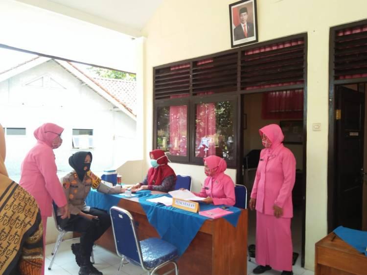 Kapolres Banjar Kunjungi Posyandu Kemala Bhayangkari Cabang Banjar