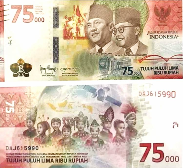 Ini Penjelasan BI soal Uang Baru Edisi 75 Tahun Indonesia Merdeka yang lagi Viral
