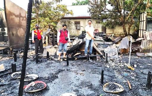Sekeluarga di Kecamatan GAS Inhil Tewas Dilalap  Api, Terjebak saat Hendak Menyelamatkan Diri