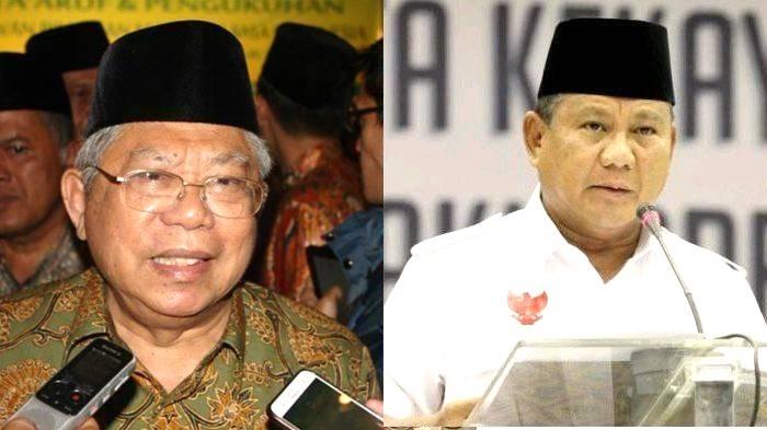 Beredar Isu Prabowo Subianto Bakal Gantikan KH Ma'ruf Amin, apa Tanggapan Gerindra?