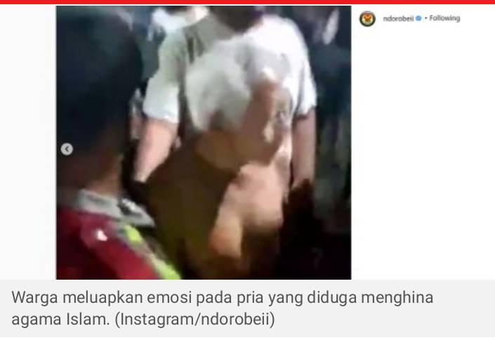 Buat Video Buang Salah Satu Agama Dari Indonesia, Seorang Pria Di Hakimi Warga