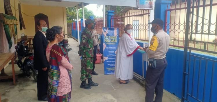 Polsek Bagan Sinembah Bersama Koramil Sosialisasikan Adaptasi Kebiasaan Baru Ke Rumah Ibadah