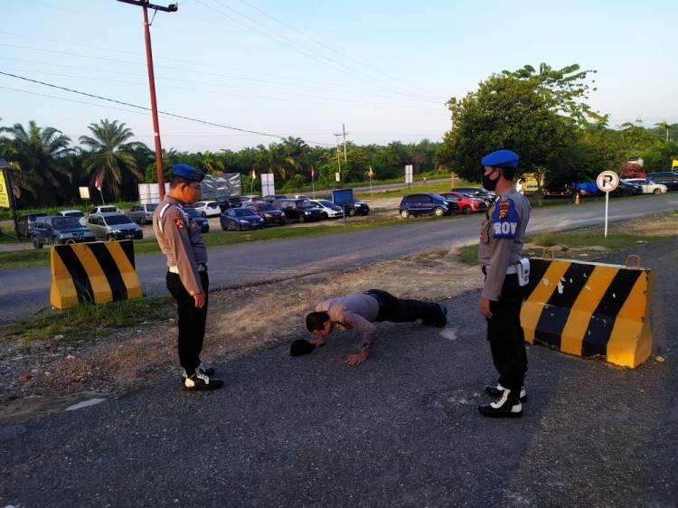Awas, Anggota Jajaran Polres Rohil yang Tidak Taat Protokol Kesehatan Dihukum ini..