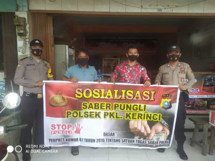 Stop Pungli, Polsek Pangkalan Kerinci gencar Lakukan Himbauan Dialogis Kepada Warga