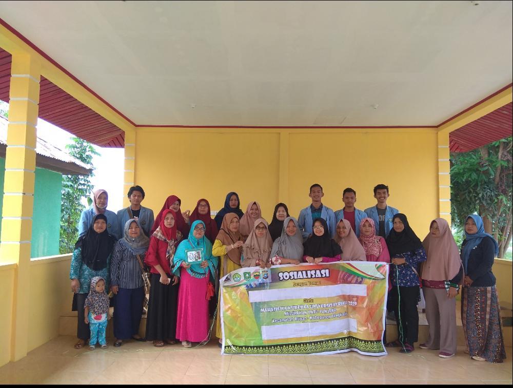 Mahasiswa Kukerta UNRI Kembangkan Biji Karet Sebagai Souvenir dan Hiasan Dinding di Kelurahan Batu Panjang