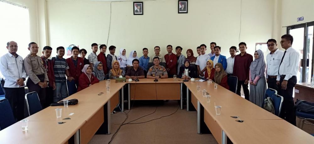 Kapolres Kampar Silaturahmi ke Universitas Pahlawan T. Tambusai Riau dan STIE Bangkinang