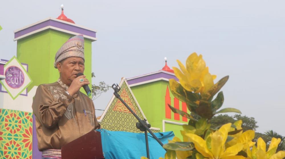 Pawai Ta'aruf MTQ Kecamatan Gaung, Wabup Inhil : Ini sarana mempererat silahturahmi antar peserta