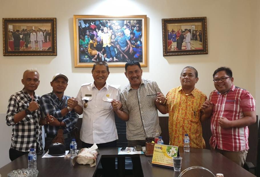 Jelang Pelantikan, Pengurus DKIH Kunjungi Wabup Inhil