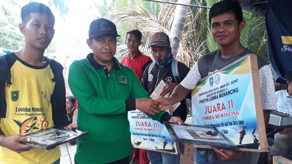 Perlomba Mancing di Desa Darul aman Berlangsung Sukses dan Meriah