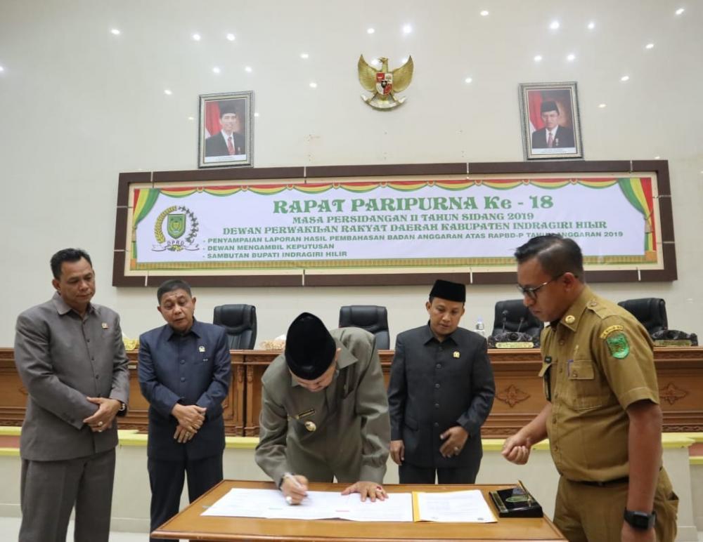 Anggaran Pendapatan Belanja Daerah Perubahan(APBD-P)  Kabupaten Inhil Di sahkan