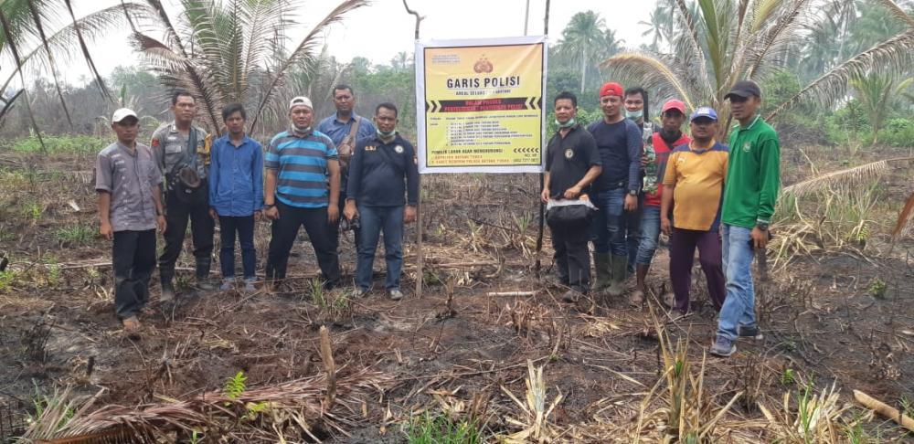 Polres Inhil Tetapkan Tersangka Karlahut di Dusun Pajar Gemilang, Kecamatan Batang Tuaka