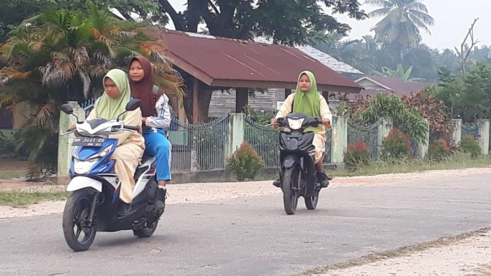 Kabut Asap di Rupat Kategori Berbahaya, Siswa SD Hingga SMA Diliburkan