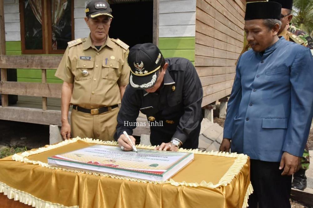 Bupati Inhil HM Wardan Launching Rumah Tahfiz Al-Bayyan di Kelurahan Pelangiran