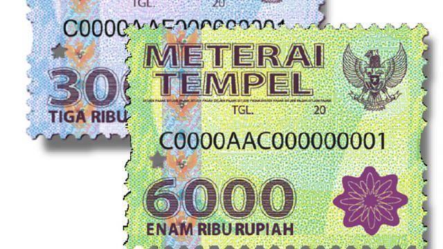 Baca dengan Cermat, Meterai Rp 3.000 dan Rp 6.000 Tahun Depan Tak Berlaku serta Peruntukannya