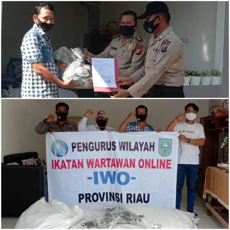 Apresiasi Bagi-bagi Masker Gratis, Kapolda Bantu 10.000 Masker ke IWO Provinsi Riau
