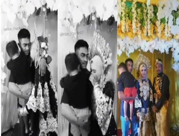 Momen Haru Mantan Suami Istri Di Pesta Pernikahan