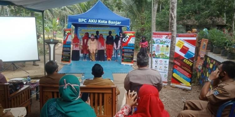 Kapolsek Pataruman Hadiri Penilaian Kelompok BKR Unggulan Tahun 2020 di Desa Sinartanjung