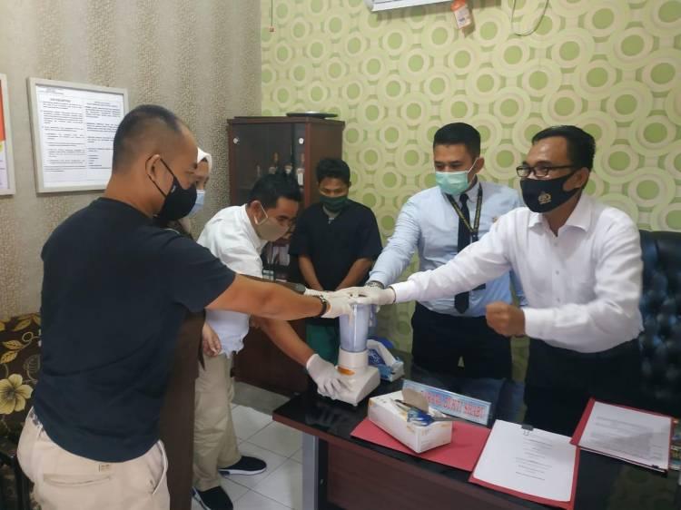 Resnarkoba Polres Kampar Musnahkan Barang Bukti Sabu Hasil Tangkapan 2 Pekan lalu