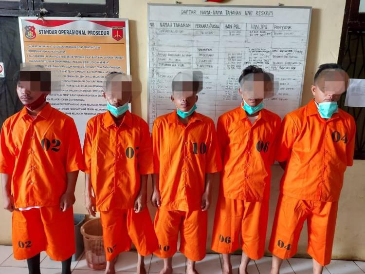 5 Pelaku Pengeroyokan dan Penganiayaan Ditangkap Polsek Tapung