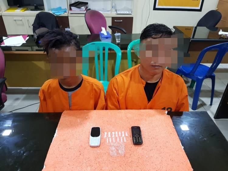 2 Orang Terduga Pelaku Tindak Pidana Narkotika Diamankan Sat Intelkam Polres Inhil