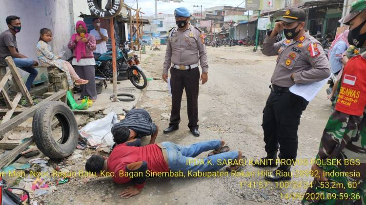 Awasi Adaptasi Kebiasaan Baru, Polsek Bagan Sinembah Gelar Operasi Yustisi