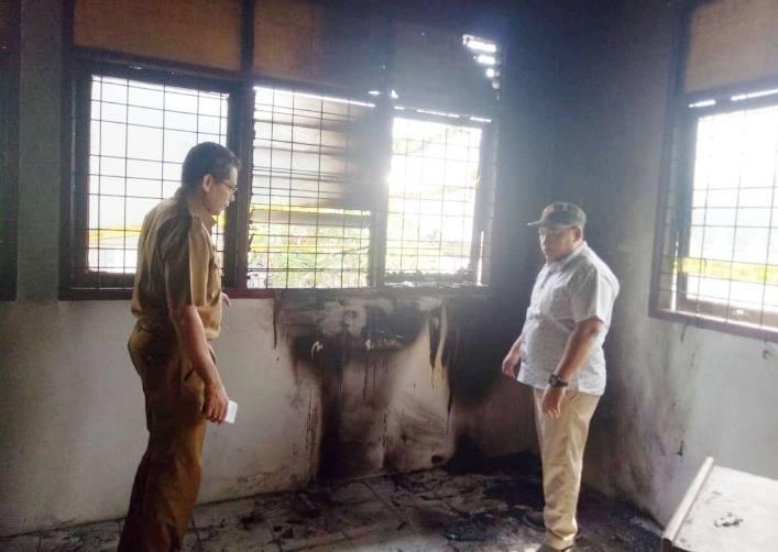 Ruang Pelayanan Kantor Desa Lubuk Terap Terbakar, Sejumlah Barang ikut Musnah
