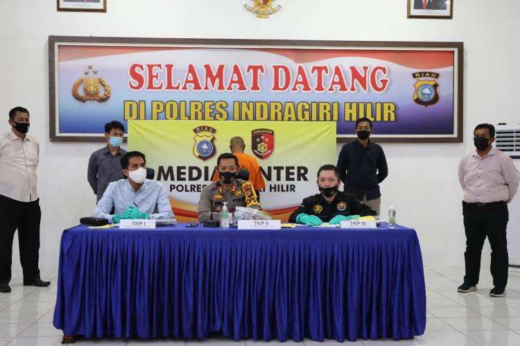 Polres Inhil Gelar Press Release Pengungkapan Kasus Tindak Pidana Narkotika