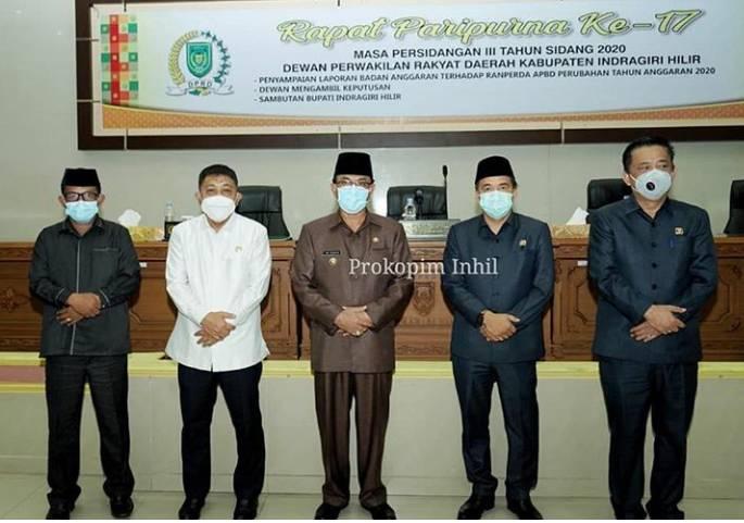 Bupati HM Wardan Hadiri Rapat Paripurna ke 17 dan Ucapkan Terima Kasih Kerja Sama DPRD Inhil