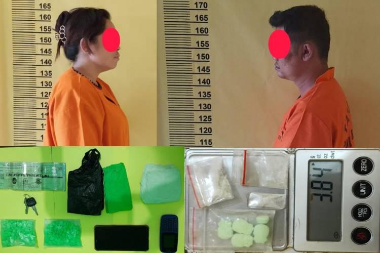 Baru Sehari Jabat Kasat Narkoba Polres Rohil, AKP Eru Alsepa Ringkus Pria dan Wanita Terkait Narkoba