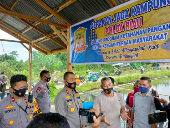 Kapolres Kampar Resmikan Panen Ikan Perdana dari Program Jaga Kampung