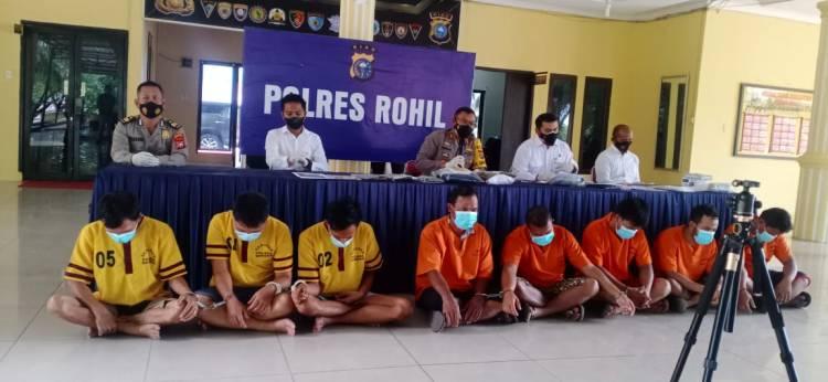 Polisi Ringkus Sindikat Pelaku Pencurian ATM di Rohil