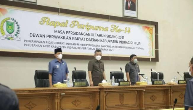 Wakil Ketua DPRD DR H Maryanto SE Pimpin Rapat Paripurna Ke 14