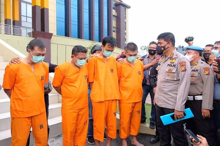 Tim Gabungan Polda Riau Bekuk 4 Perampok Uang Rp 775 Juta di Mesin ATM di Rohul