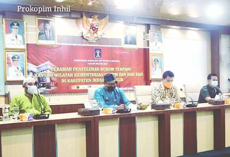 Kanwil Kemenkum dan HAM Riau Bersama Pemkab Inhil Taja Penyuluhan Hukum Terpadu