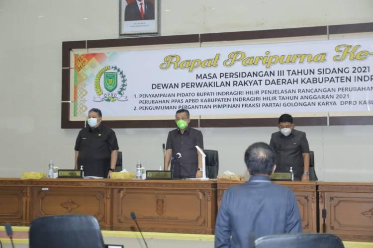 DPRD,Pemkab Inhil Bahas Refocusing Pada Rancangan Perubahan APBD Tahun 2021