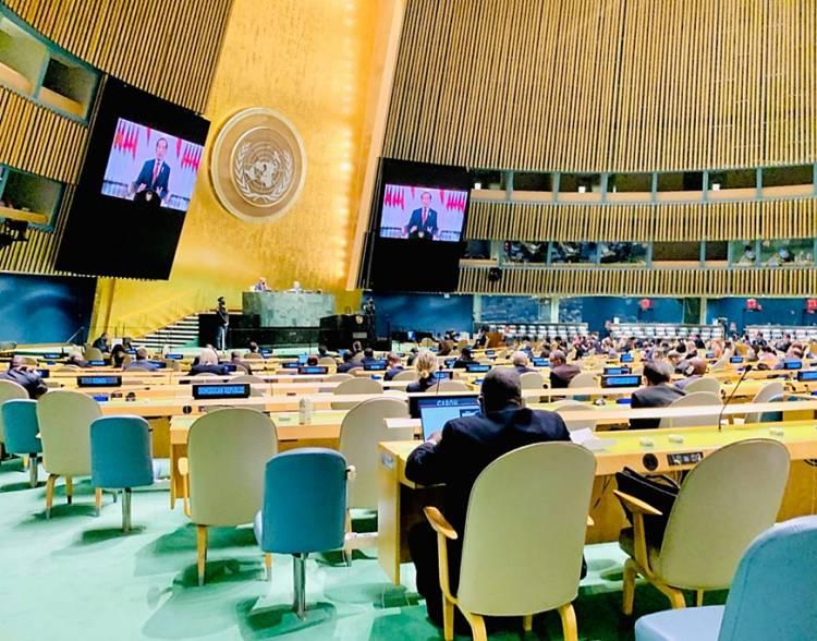 Presiden Jokowi Sampaikan Empat Pandangan dalam Pidato Virtual di Sidang Umum PBB Hari Ini