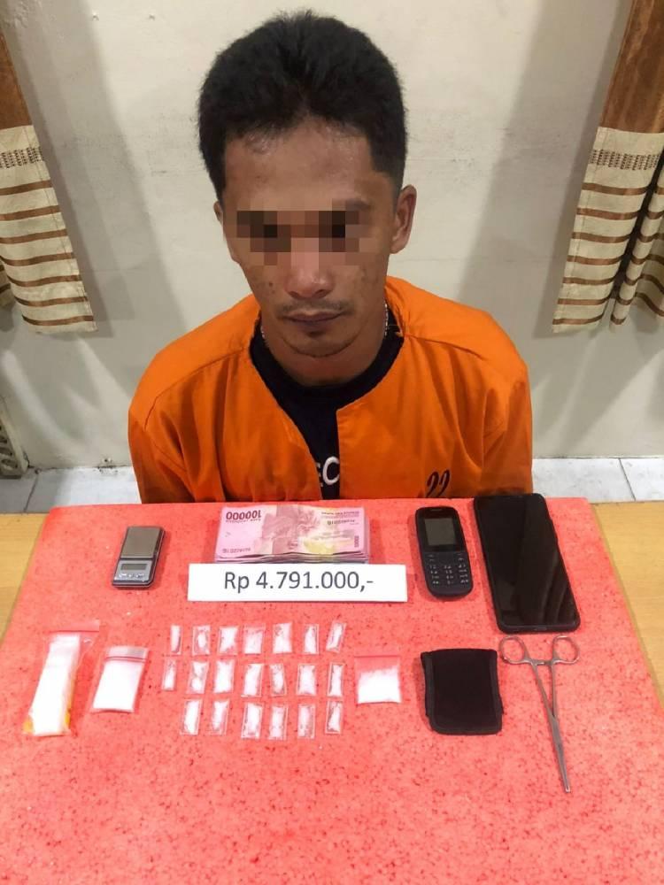 Satnarkoba Polres Inhil Amankan 10.81 Gram Shabu Dari Tindak Pidana Narkoba