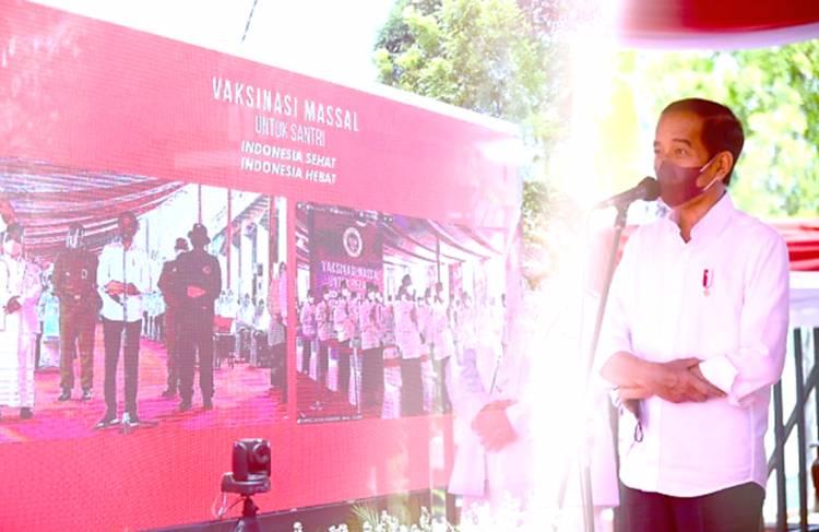 Ini Harapan Santri dari Beberapa Pesantren yang Disampaikan kepada Jokowi Melalui Konferensi Video