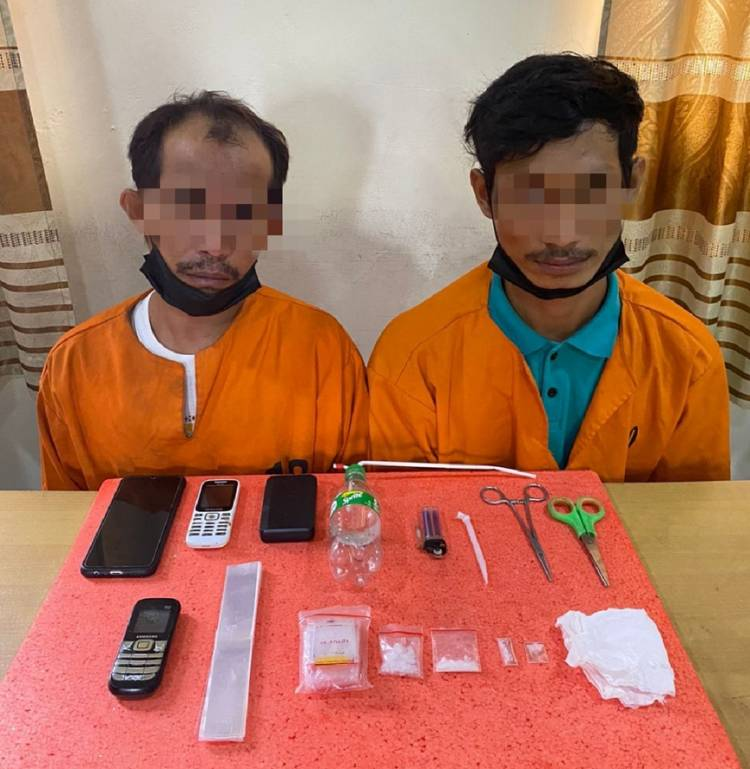 2 Pelaku Tindak Pidana Narkotika Jenis Sabu Diamankan Sat Res Narkoba Polres Inhil