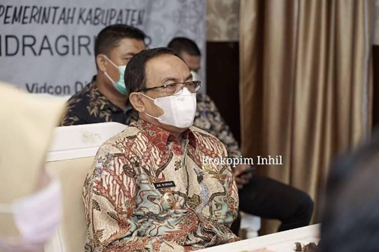 Bupati HM.Wardan Ikuti Penyerahan TPID Award Secara Virtual, Inhil Satu dari Tiga Daerah yang Jadi Indikator TPID
