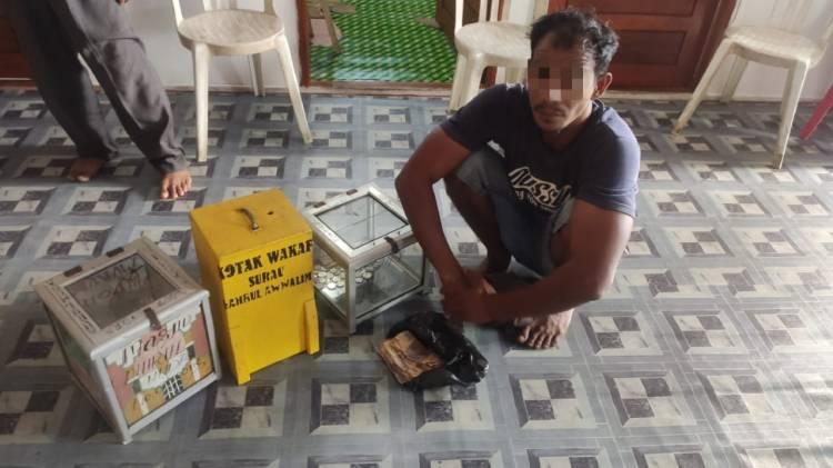 Pelaku Pencurian Kotak Infaq Di Inhil Dibekuk Polisi