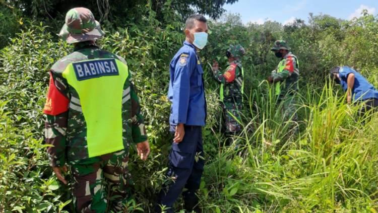 Serda P. Hutape Gelar Patroli dan Sosialisasi Pencegahan Karhutla di Desa Dungun Baru