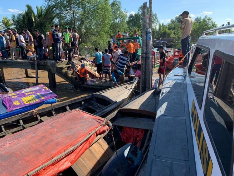 Speedboat Tujuan Tembilahan - Guntung Alami Musibah di Perairan Sei Perak