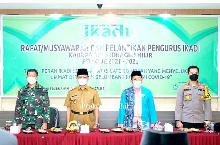 Bupati Inhil Drs. HM. Wardan MP Hadiri Pelantikan Pengurus IKADI Periode 2021-2026