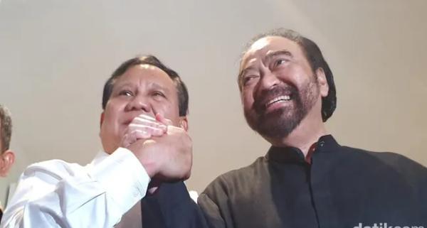 Pertemuan Prabowo dan Surya Paloh menghasilkan 3 Kesepakatan,Apa Saja