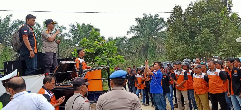 Kapolres Beri Arahan Anggota KSBSI Kampar yang akan Unjukrasa ke Kantor Gubernur Riau