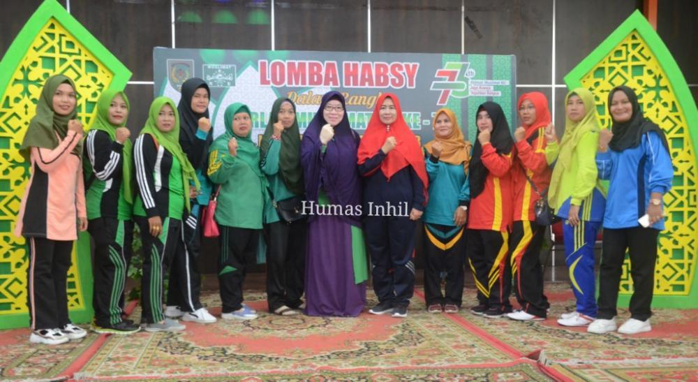 Senam Bersama PCMNU Inhil Dalam Rangka Harla Muslimat NU Ke-73 2019 M/1441 H.