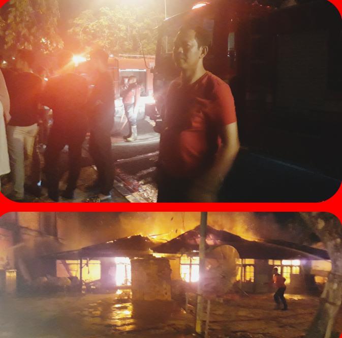 Kapolres Kampar Turun Langsung Melihat Musibah Kebakaran Bersama Panwas Kbo sat Intelkam